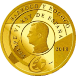 Испания памятная монета 200 евро Барокко и Рококо, реверс