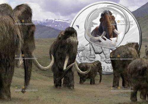 Канада монета 20 долларов Шерстистый мамонт