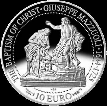 Мальта монета 10 евро Искусство Барокко, реверс