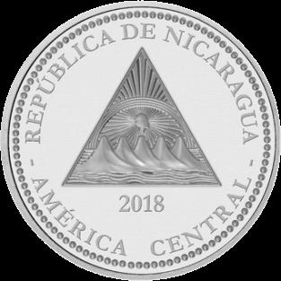 Никарагуа монета 100 кордоба Муравьед, аверс
