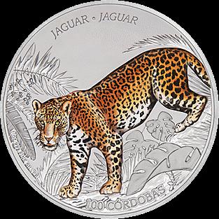 Никарагуа монета 100 кордоба Ягуар, реверс