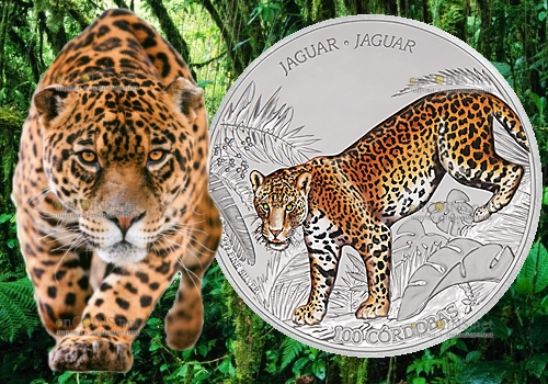 Никарагуа монета 100 кордоба Ягуар