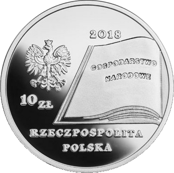 Польша монета 10 злотых Фредерик Скарбек, аверс