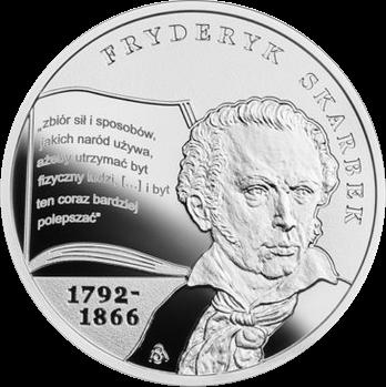 Польша монета 10 злотых Фредерик Скарбек, реверс