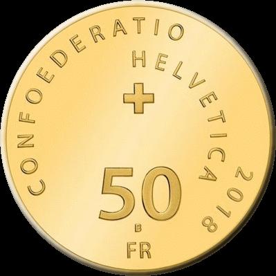 Швейцария монета 50 франков Вильгельм Телль, аверс