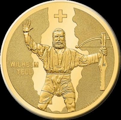 Швейцария монета 50 франков Вильгельм Телль, реверс
