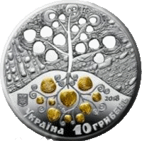 Украина монета 10 гривен Копание картофеля, аверс