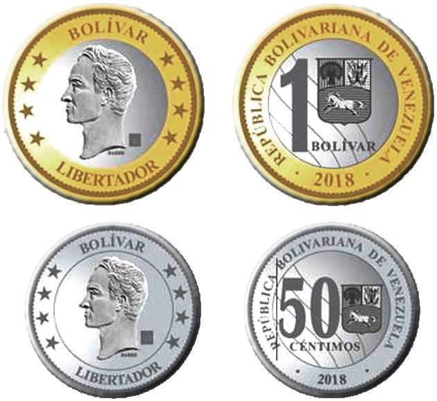 Венесуэла новые монеты 2018 год