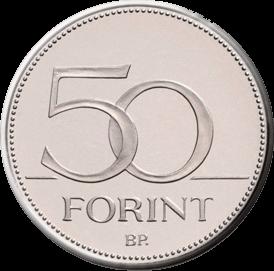 Венгрия монета 50 форинтов, аверс