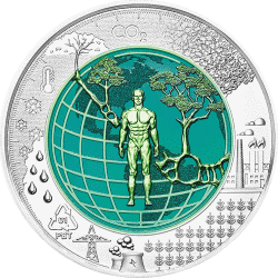 Австрия монета 25 евро Антропоцен, реверс