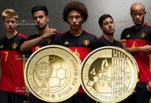 Бельгия монета 2,5 евро Красные дьяволы