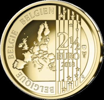 Бельгия монета 2,5 евро Красные дьяволы, аверс