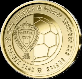 Бельгия монета 2,5 евро Красные дьяволы, реверс