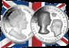 Британские Виргинские острова монета 10 долларов 75 лет коронации королевы Елизаветы II