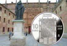 Испания монета 10 евро 800 лет Университету Саламанки