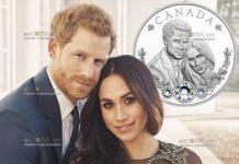 Канада монета 20 долларов свадьба Гарри и Меган