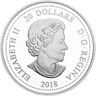 Канада монета 20 долларов свадьба Гарри и Меган, аверс