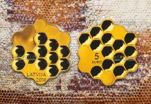 Латвия монета 5 евро Медовая монета