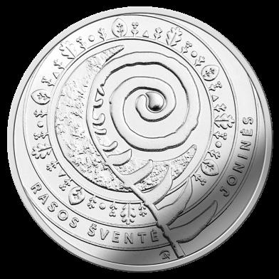 Литва монета 1,5 евро праздник Йонинес, реверс