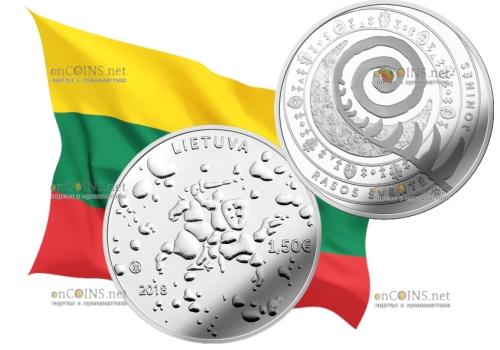 Литва монета 5 евро праздник Йонинес