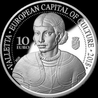 Мальта монета 10 евро Валетта культурная столица Европы 2018, реверс