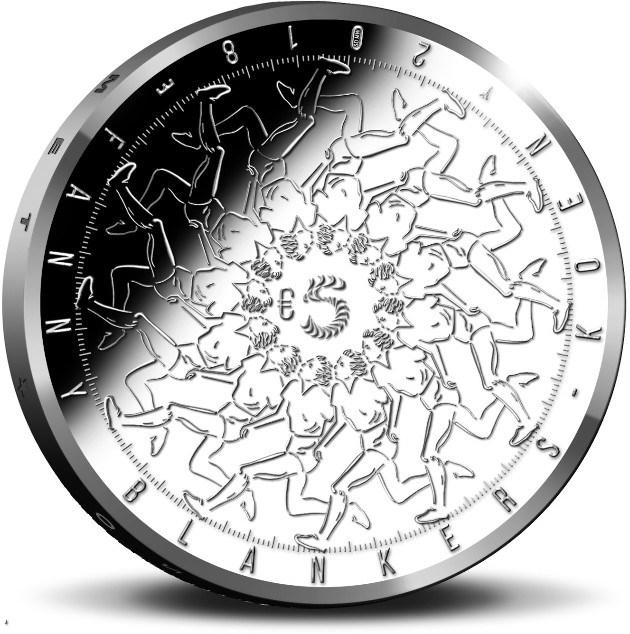 Нидерланды монета 5 евро Фанни Бланкерс Коэн, реверс