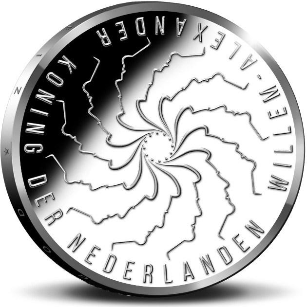 Нидерланды монета 5 евро Фанни Бланкерс Коэн, аверс