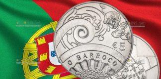 Португалия монета 5 евро Барокко и Рококо