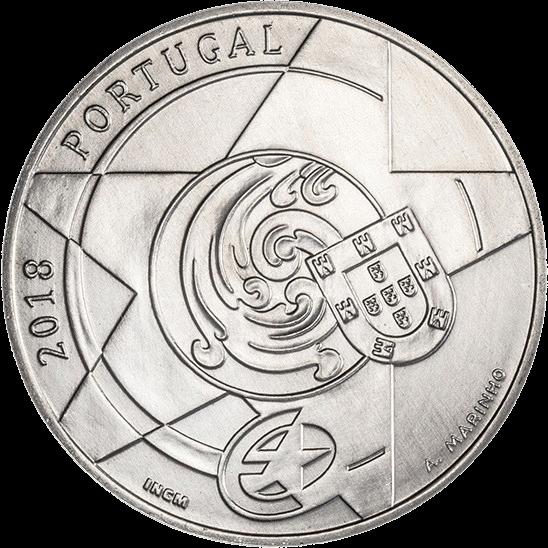 Португалия монета 5 евро Барокко и Рококо, аверс
