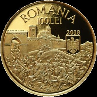Румыния монета 100 леев Михаил Храбрый, аверс