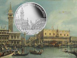 Сан-Марино монета 5 евро 250 лет со дня смерти Каналетто