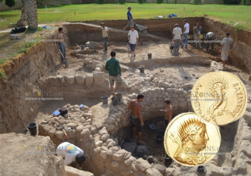 в Египте во время проведения археологических изыскания нашли золотую монету, которая была отчеканена во времена правления царя Египта - Птолемея III Евергета