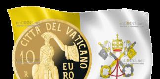 Ватикан монета 10 евро Крещение