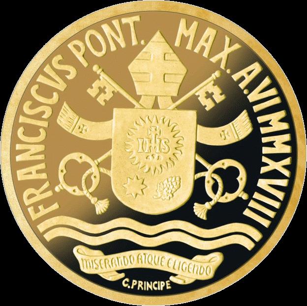Ватикан монета 10 евро Крещение, аверс