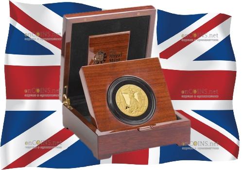 Великобритания монета 10 фунтов 65 лет со дня коронации Елизаветы II, подарочная упаковка