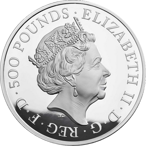 Великобритания монета 500 фунтов 65 лет со дня коронации Елизаветы II, аверс