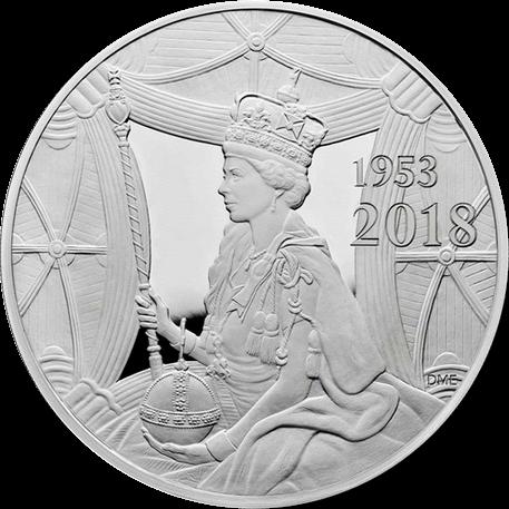 Великобритания монета 500 фунтов 65 лет со дня коронации Елизаветы II, реверс