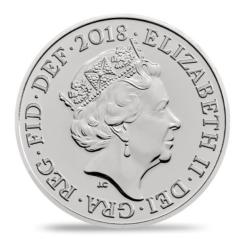 Великобритания монета серебряный пенни 2018, аверс