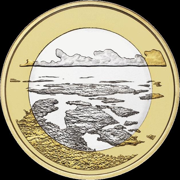 Финляндия монета 5 евро Архипелаговое море