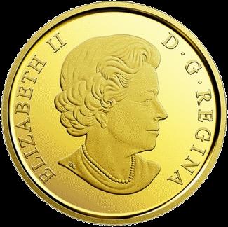 Канада монета 20 долларов Символы Севера, аверс