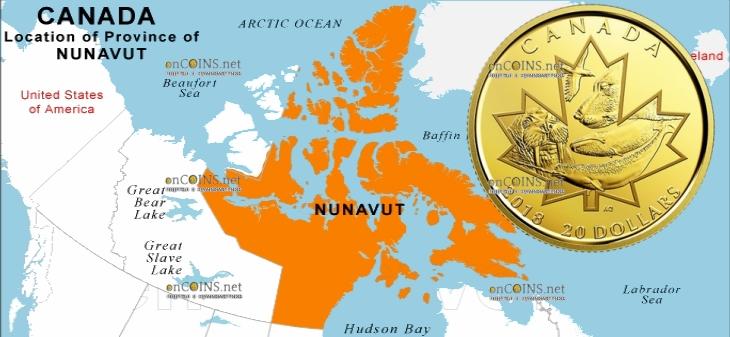 Канада монета 20 долларов Символы Севера