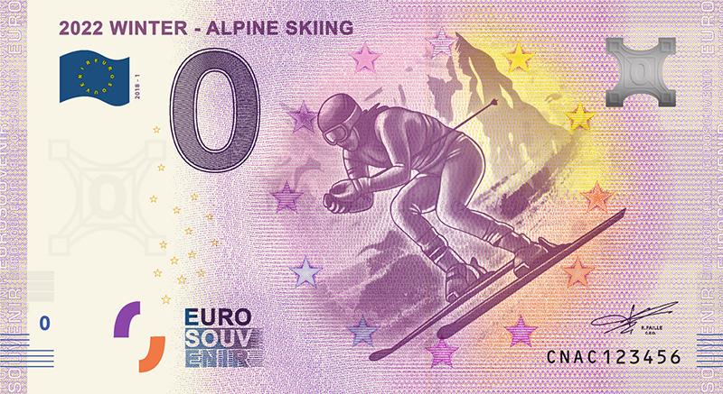 Китай 0 евро Зимние Олимпийские игры 2022 в Пекине - горнолыжный спуск