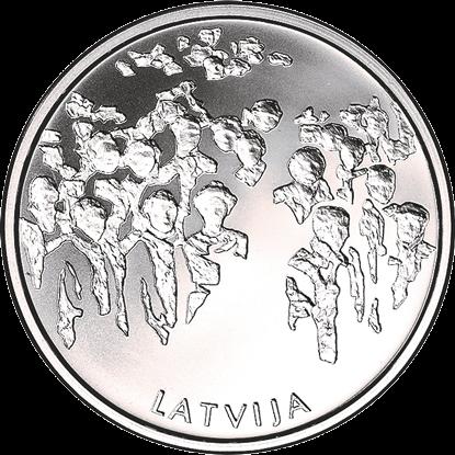 Латвия монета 5 евро Сад судеб в Кокнесе, реверс