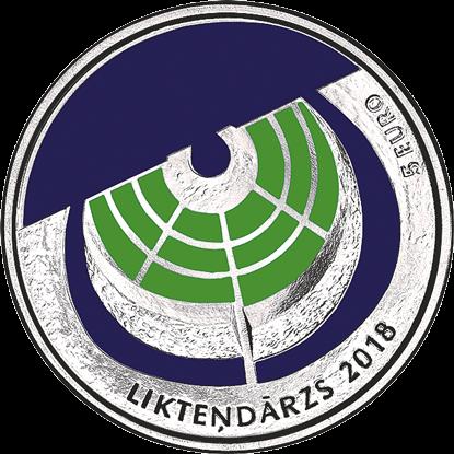 Латвия монета 5 евро Сад судеб в Кокнесе, аверс