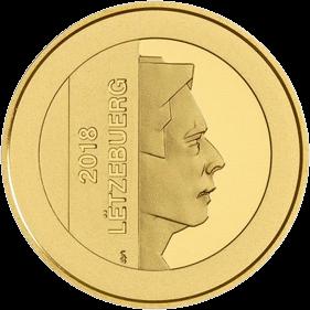 Люксембург монета 2,5 евро 20-летие основания Центрального банка, аверс