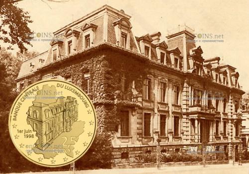 Люксембург монета 2,5 евро 20-летие основания Центрального банка
