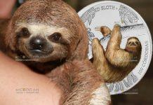 Никарагуа монета 100 кордоба Трёхпалый ленивец