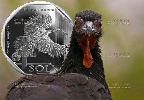 Перу монета 1 соль Белокрылый Гуан