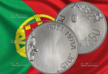 Португалия монета 7,5 евро евро Роза Мота, серебро