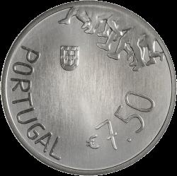 Португалия монета 7,5 евро евро Роза Мота, серебро, аверс